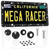 Mega Racer Crystal Diamond License Plate Frame -...