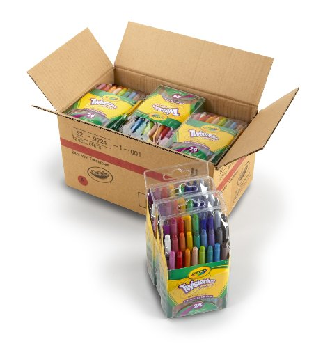 Crayola Mini Twistable Crayons, (24 Colors per case) - Case of 12