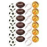 Set of 24 Sports 2.5' Stress Balls - Includes...