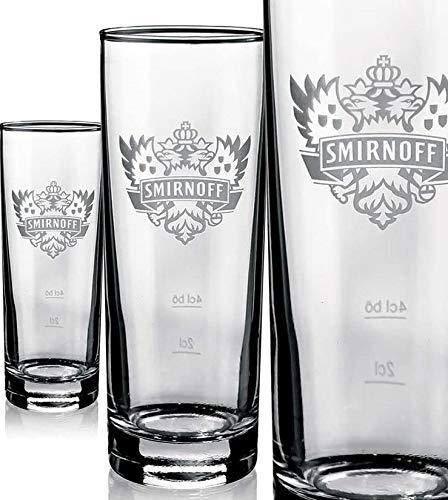 6 vasos de cristal Smirnoff con logo helado de 0,2 l, decoración...