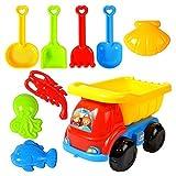 NRRN Juego de juguetes de playa de arena, juguetes de arena para bebés pequeños, pala de arena y cubo de juguete para niños y niñas de 1 2 3 años de edad