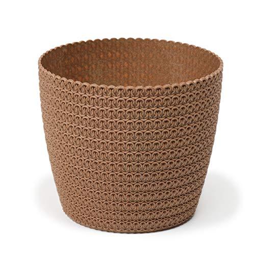 Lamela Eco Blumentopf Kräuterpflanze Blumentopf | Magnolia Jersey | Fensterbankhalter Balkon Garten Container Eimer | Wohnkultur | Mix! Match! Spiel!… (Ø 140 mm, Naturholz)