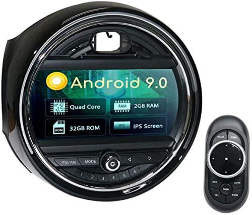 HYCy Navegador de Pantalla Grande de Control Central R60 EVO de 7 Pulgadas para Coche Modificado 2 + 32G con luz Ambiental Compatible con BMW Mini F54 F55 F56 R56 (Modelos 2007-2016)