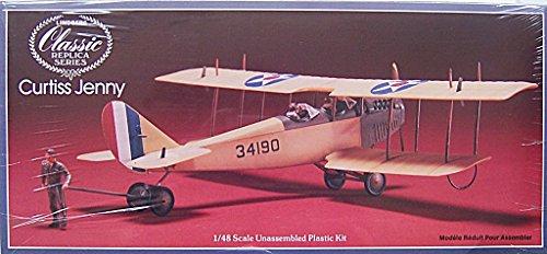 Lindbergクラシックレプリカシリーズ–Historic複葉機シリーズ–Curtiss jn-4Jennyプラスチックモデルキット–1/ 48スケール