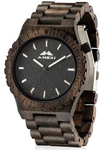 AMEXI madera relojes para hombres con...