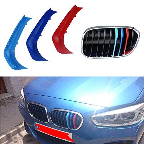 Muchkey Per 1 serie 116i 118i 120i(9 griglie) Rene griglia radiatore 3D m auto styling griglia anteriore Insert Trim Motorsport nastri adesivi griglia di