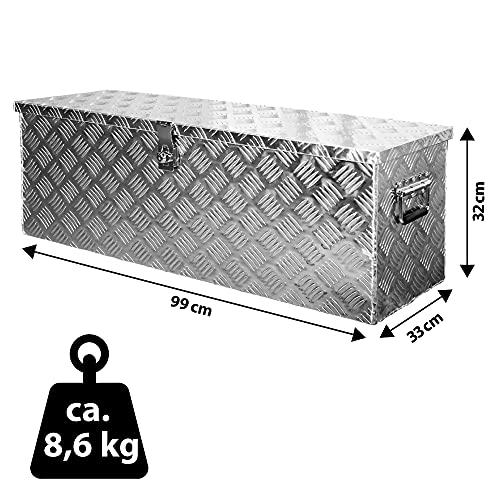 Truckbox Box Werkzeugkiste Anhängerbox Deichselbox 15 Größen Alumium Trucky, Boxentyp:D100 (99 x 33 x 32 cm) - 3