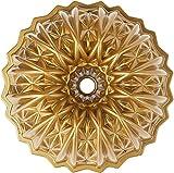 Nordic Ware Cut Crystal Cast Bundt Pan, 10 Cup Capacity, Gold