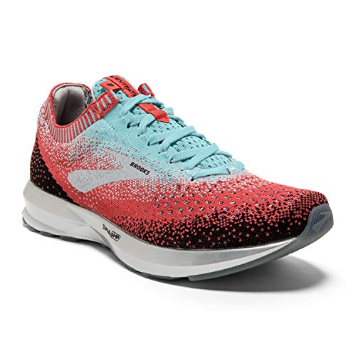 Brooks Womens Levitate 2 Running Shoe - Coral/Blue/Black - B - 8.0