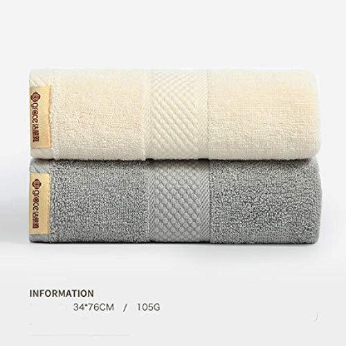 HXOUDAN handdoek van katoen, sneldrogend, gezicht, handdoek, badhanddoek, absorberend, thuis, badkamer, reizen, hotel, logeerkamer, zacht, 2 stuks, 34 x 76 cm