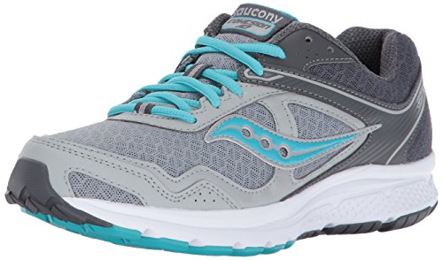 Saucony Women's Cohesion 10 Running Shoe, Grey Blue, 7 Medium US