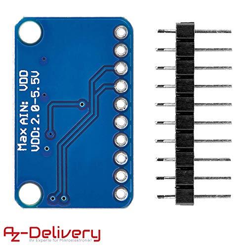 AZDelivery 3 x ADS1115 ADC Modul 16bit 4 Kanäle kompatibel mit Arduino und Raspberry Pi mit eBook