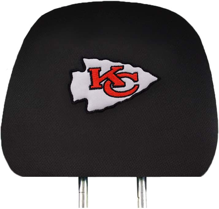 Set of 2 Fit San Francisco 49ers Car Headrest Covers,Black Slip Over Embroidered 49ers Head Rest Cover Set Universal Car Interior Accessories fit for Toyota Jeep Ford Lexus Cadillac BMW Audi