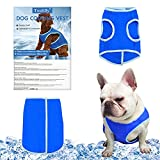 Toulifly Dog Cooling Vest, Dog Cooling Coat, Multi-Layer Cooling Jacket for Dogs, Dog Ice-cooling Harness Coats, Pet Cooler Vest with Magic Tape for Puppies Dogs,Breathable Mesh Ice Vest(M)