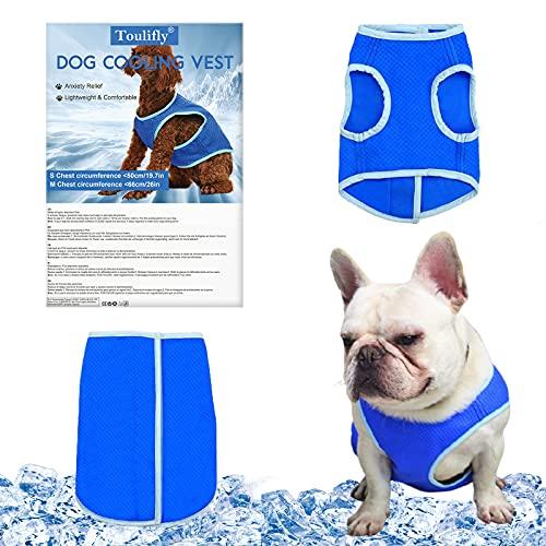Kühljacke Hund, Kühlweste für Haustiere, Hundeweste Sommer Kühlweste für Hunde Atmungsaktiv Wiederverwendbar, Pet Shirt Hund, Vermeiden Sie Überhitzung, Sonnenfest (M)