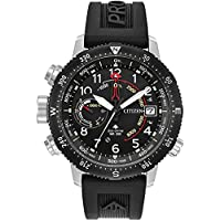 Citizen 46mm Eco-Drive Men's Promaster Altichron Black Rubber Strap Watch