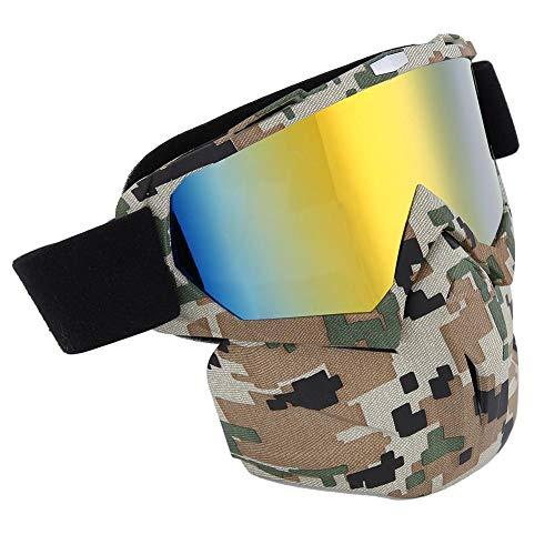 Alomejor Gesichtsschutzbrillen Schneemobil Motorrad Schutzbrillen Windschutz und Ultravioletter Schutz für Wintersport(#3)