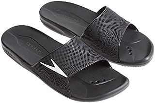 Atami II Max Pool Slider Sandals, Black with White