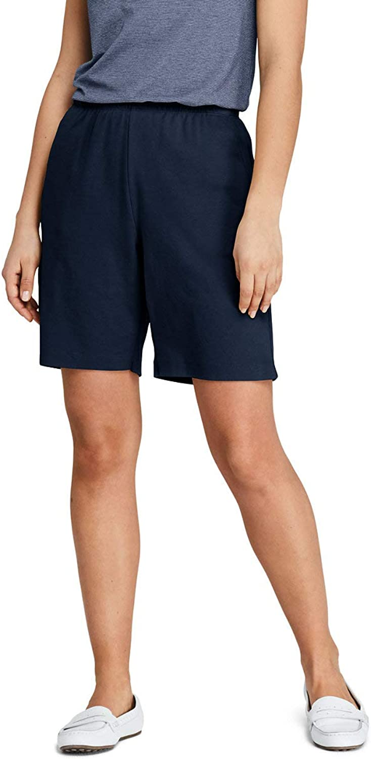 Lands' End Women's Petite Sport Knit Shorts, XL, Classic Navy