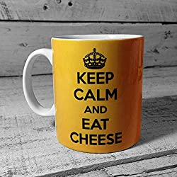Keep Calm and EAT CHEESE 11oz Mug Fromager Gift Cup