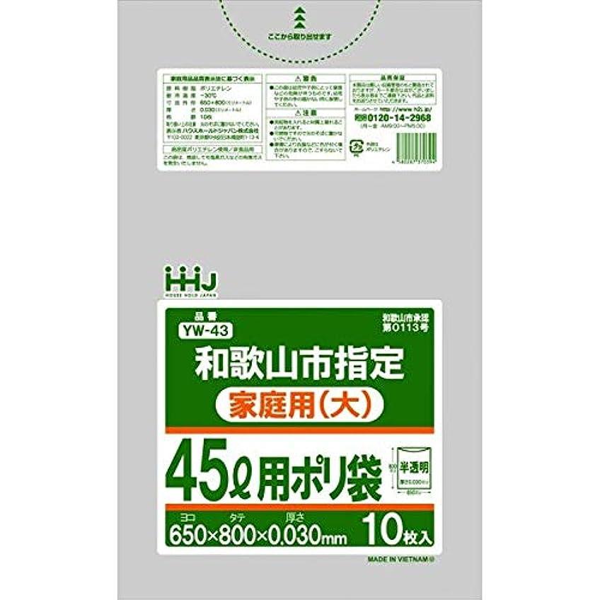 聖人バンドインターネットごみ袋 45L 和歌山市 指定(家庭用?大) ポリ袋 650x800mm 600枚入 YW43