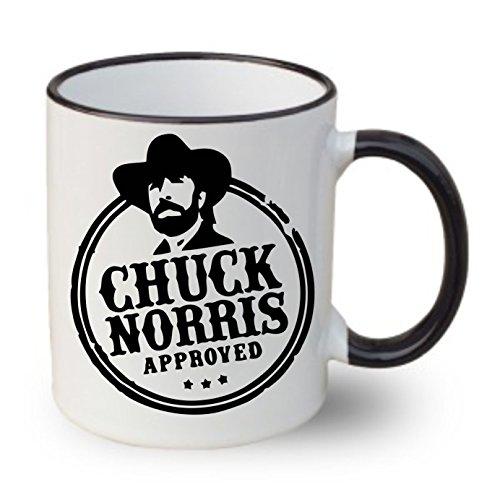 'Taza con texto: 'Chuck Norris Geprüft... Regalo Cumpleaños Té Taza de café, cerámica, Chef de trabajo oficina