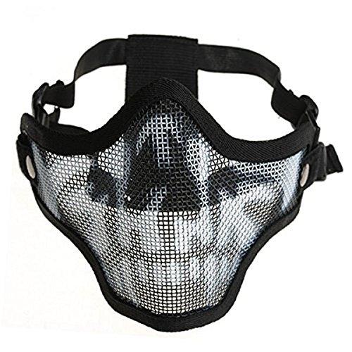 Tinksky Halber Gesichtsschutz Mesh Maske für Softair Paintball CS