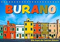 Burano - Die Insel der bunten Haeuser (Tischkalender 2022 DIN A5 quer): Die kleine Insel in der Lagune von Venedig in farbenfrohen Bildern (Monatskalender, 14 Seiten )