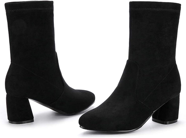 Web Perkin kvinnor kvinnor Round Round Round Toe mocka Winter Warm skor Slip on Soft stövlar Lady Mid Calf stövlar  rabatt lågt pris