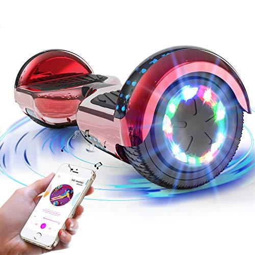 RCB Hoverboard Scooter Elettrico 6.5 inch Auto-bilanciato con luci sulle Ruote Bluetooth per Adulti e BAMB Regalo di Natale