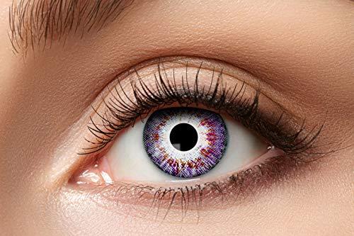 Zoelibat Natürlich Farbige Kontaktlinsen für 12 Monate, Ton81, 2 Stück, BC 8.6 mm / DIA 14.5 mm, Jahreslinsen in Markequalität, rosa