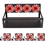 ADEALINK 6 GPU Mining Rig Aluminum Case + 4 Fans Open Air Frame for ETH ZEC/Bitcoin (6 GPU Mining case +4pcs Fan)