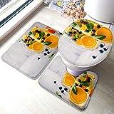 Ensemble de tapis de toilette Infusion Detox Water Orange Blueberry Mint Tapis de tapis de...