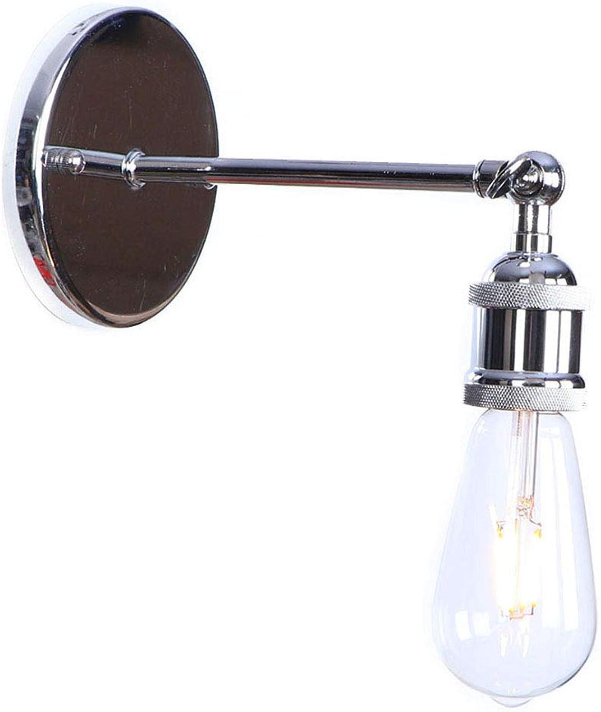 WVUSGDTT LED-Wandleuchte, drehbar, Wandleuchte, aus Metall, für Innenrume, für Schlafzimmer und Wohnzimmer 18  8CM Chrom