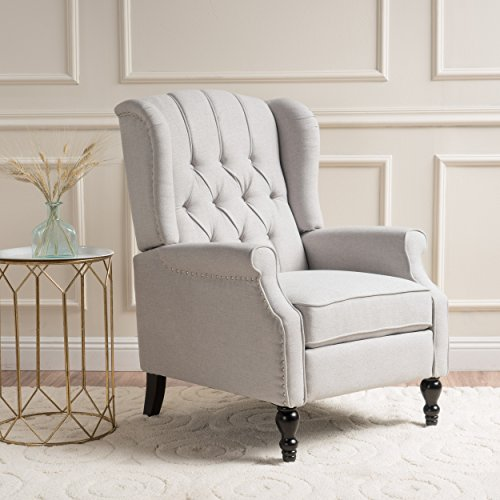 Christopher Knight Home Elizabeth Tufted Fabric Arm Chair Recliner,...