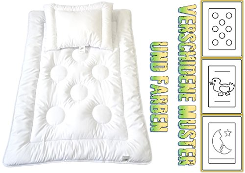 Baby Kinder Set Ringe Kinder Bettdecke Steppbett+Kissen mit Öko-Tex Standard 100