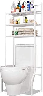 LIN HE SHOP Baño Estanterías Rack, Aseo Durante Almacenamiento, WC 3 Niveles de múltiples Funciones Blanca en Rack de lavandería Estante Estante de Almacenamiento Lavadora ahorrador del Espacio