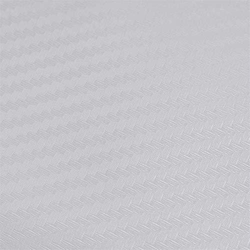 Wyfan 127x30cm 3D Fibra de Carbono Vinilo Coche Motocicleta Wrap Hoja Rollo Pegatina Película Decoración de Lámina Accesorios de Estilo Coche Impermeable (Color Name : White)