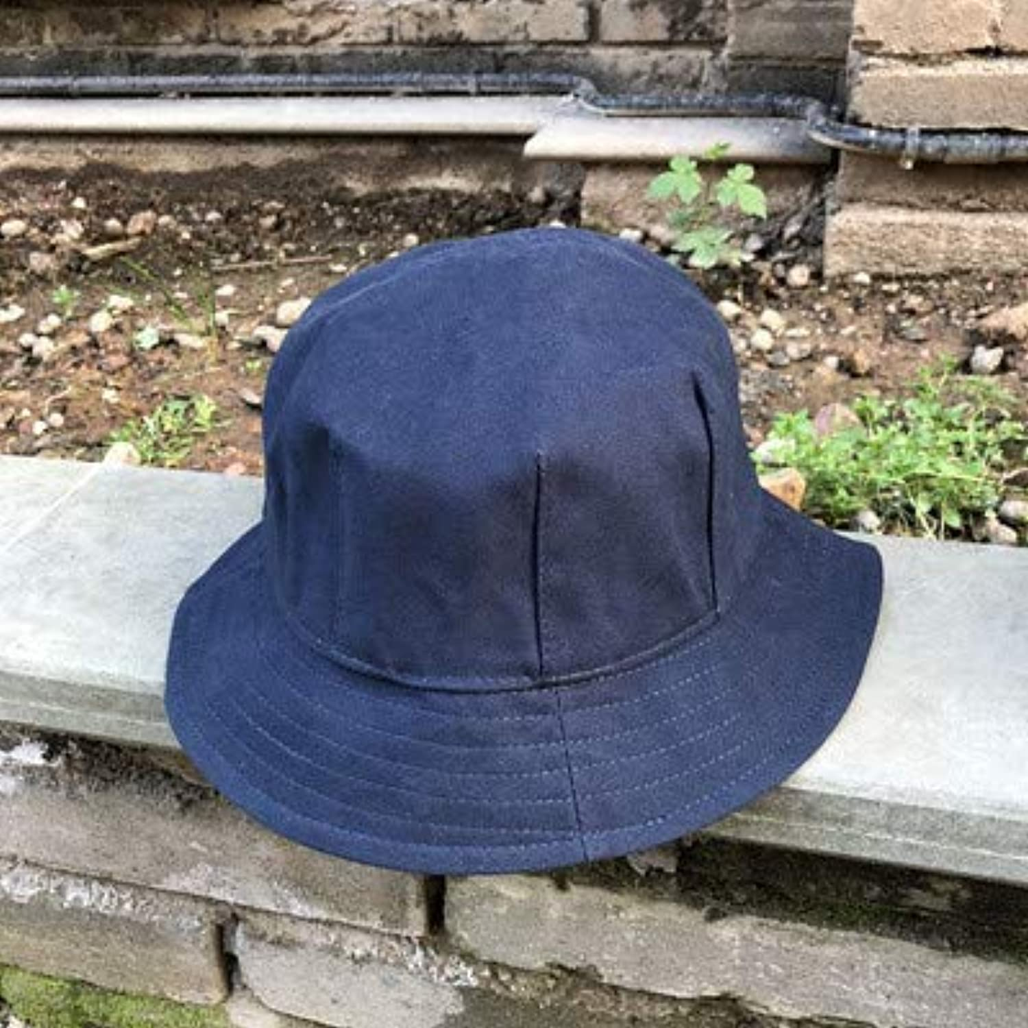 Home Literary Japanese Dome Retro Otaru Simple Fisherman Hat Men and Women Summer Solid color Light Body Sun Hat Outer Basin Cap (color   Navy, Size   M(5658cm)) Warm Soft and Comfortable Hats