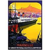 Editions Clouet 50755 - Affiche Touristique 50x70 cm PLM - Port de Marseille
