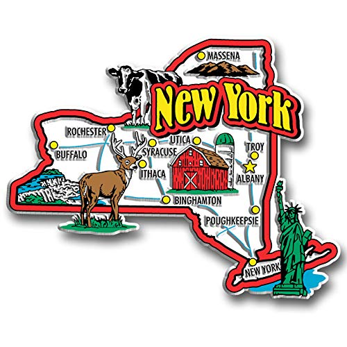 New York State Jumbo Map Magnet