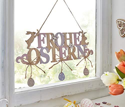 """Hänger """"Frohe Ostern"""" aus Holz Wanddeko Schriftzug Buchstaben Türdeko Dekorieren"""