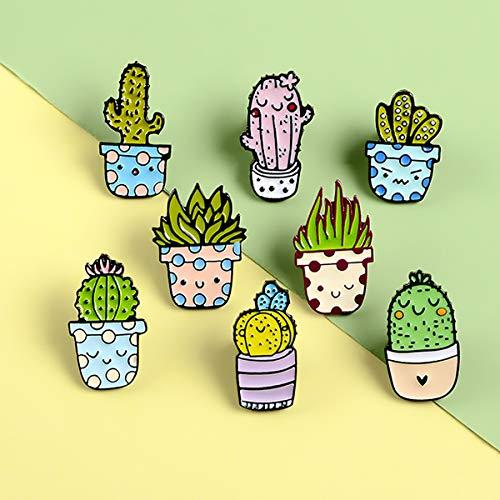 Enamel Pin Set Cartoon Revers Broche Cute Plant Cactus Cartoon Kenteken voor Kleding Bag Jacket Rugzak Decoratie En Kerstmis in de buurt van de Gift