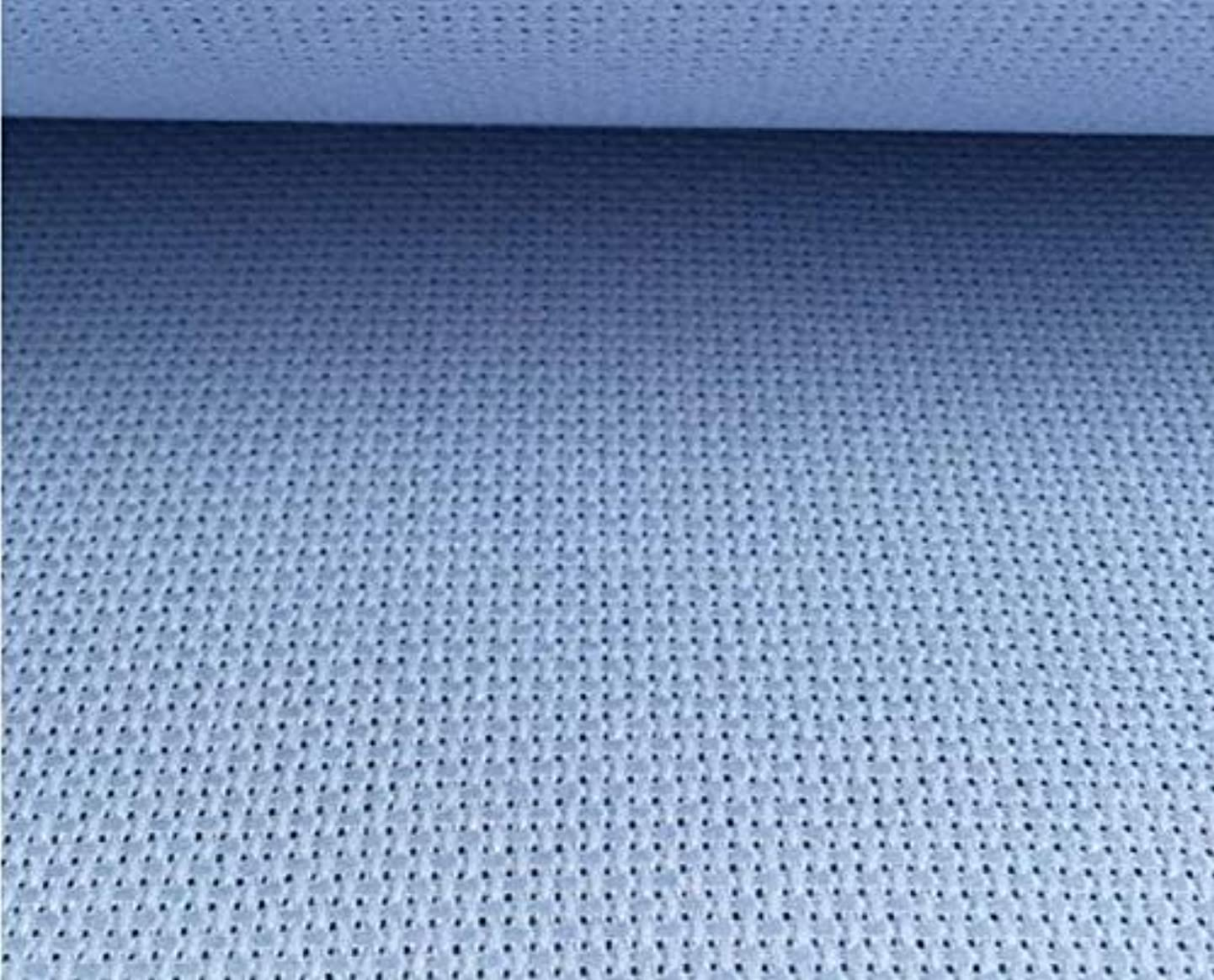 Zamtac 100% Cotton Embroidery Aida Cloth Canvas Fabric Make Any Size - (Color: Navy Blue, Size: 5050cm, Cross Stitch Fabric CT Number: 14CT) dhuqmfdfjeo0