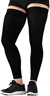 Best Mojo Compression Stockings Circulation 20-30mmHg- Thigh-Hi Leg Sleeve With Grip Top Firm Graduated Support Black Large A609BL3 Review