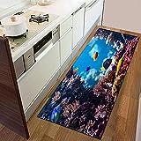 Alfombras de Cocina, felpudos de Entrada de decoración del hogar, felpudos de Sala de Estar de Dormitorio, alfombras de baño con Estampado de Animales A9 50x160cm