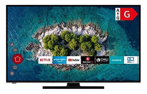 HITACHI U55K6100 Smart TV 55 Zoll (139 cm) I Fernseher (4K Ultra HD, HDR10, Dolby Vision HDR, Triple Tuner, Alexa, Bluetooth, HD+) I WLAN-Streaming Prime Video, Netflix, YouTube UVM