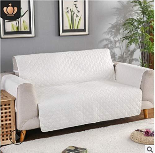 CC.Stars Funda para sofá Antideslizante para,Funda de sofá para Sala de Estar, Funda Protectora de sofá, sillón sofá CamaFundas reclinables-Blanco Crema_2 Asiento (130x196cm) _