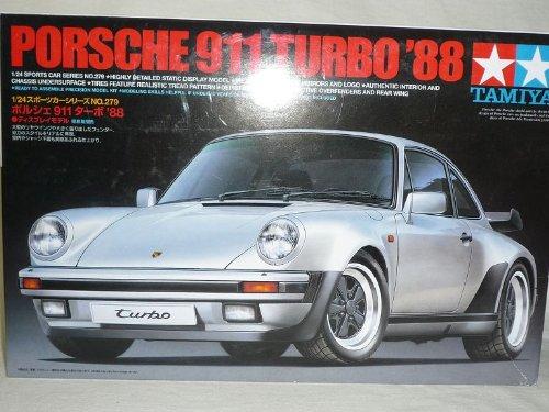 Tamiyia Porsche 911 964 1988 Turbo Silber Bausatz Kit 1/24 Modellauto Modell Auto