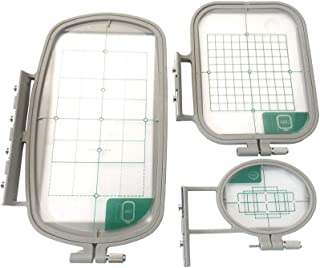 3-Piece Set Sewing Embroidery Machine Hoop Set Sewing Hoop Frame for Brother BabylockHE120 HE120PKG HE240 LB6770PRW LB6800 SE270D SE350 SE400 SE425 PE300S PE400D PE450 PE500 PE525 NV500 NV900 NV95E